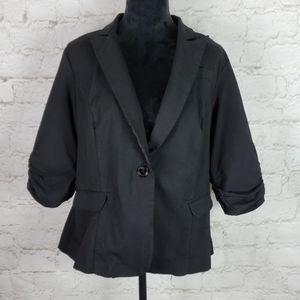 Torrid Ruched Sleeve Stretch Blazer size 1X